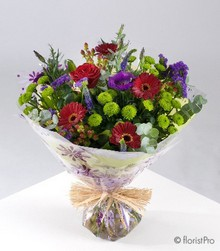 Red Purple and Green Bouquet