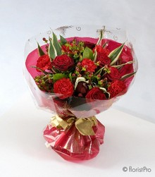 ruby red wedding anniversary flowers roses florist harold wood romford same day delivery
