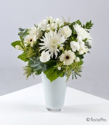 Mixed White Stem Bouquet in Vase