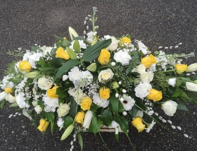 Yellow and White Coffin Spray