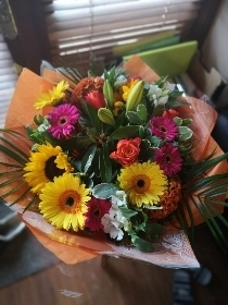vibrant colourful bouquet mixed flowers harold wood florist romford same day delivery
